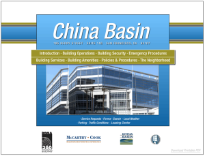 China Basin's Electronic Tenant® Handbook