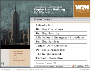 The Empire State Building's Electronic Tenant® Handbook